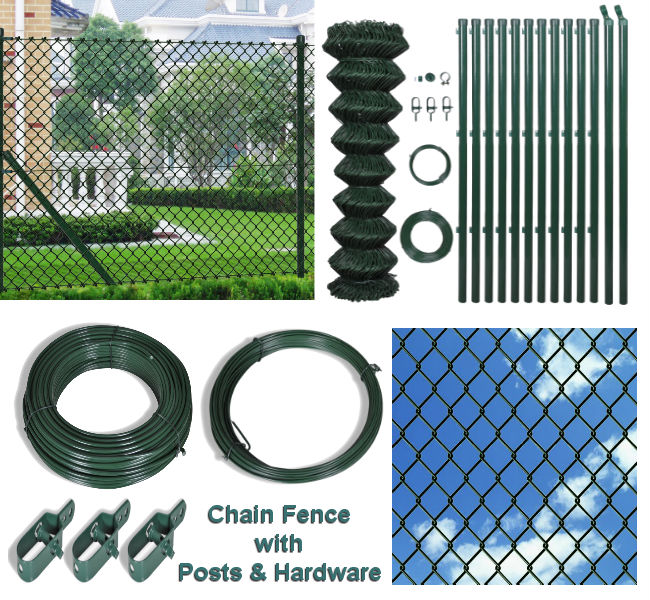 100cm X 15M Chain Fence with Posts & Hardware